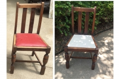 Oak Chair Before and After