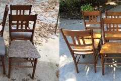 Set of 6 chairs Before and After