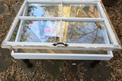 4 pane window coffee table