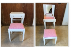 Cosmetic Table and Stool